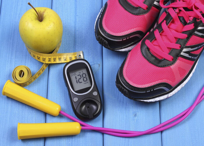 exercise on HbA1c in type 1 diabetes